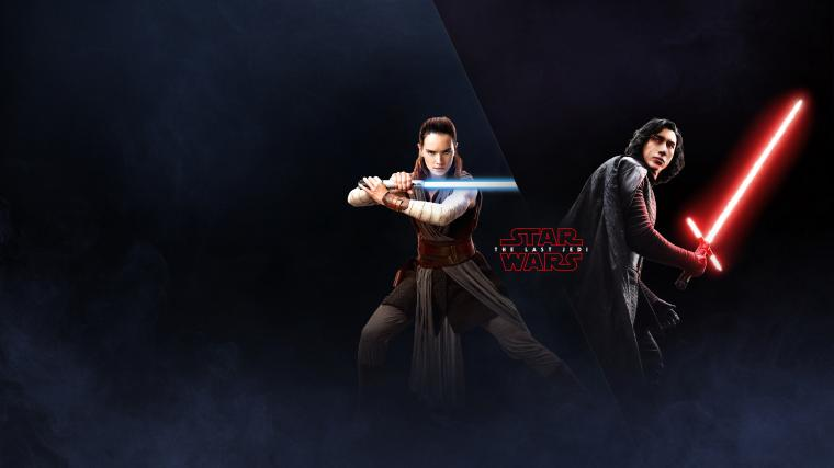 The Last Jedi Wallpaper Rey and Kylo Milners Blog