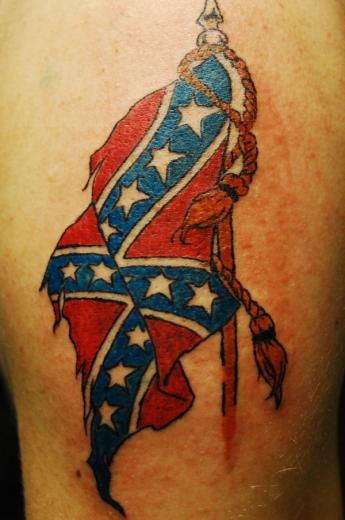 Confederate Flag Tattoo by WikkedOne