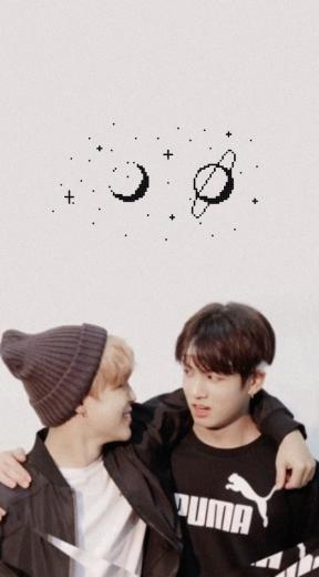 wallpapers jikook shared by yaminnie on We Heart It