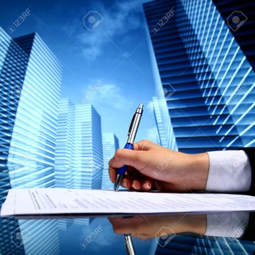 Realtor Professional Presentation Business Background Stock Photo