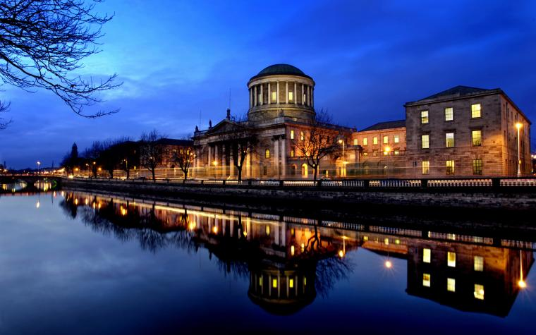 Four Courts on the River Liffey in Desktop Wallpaper