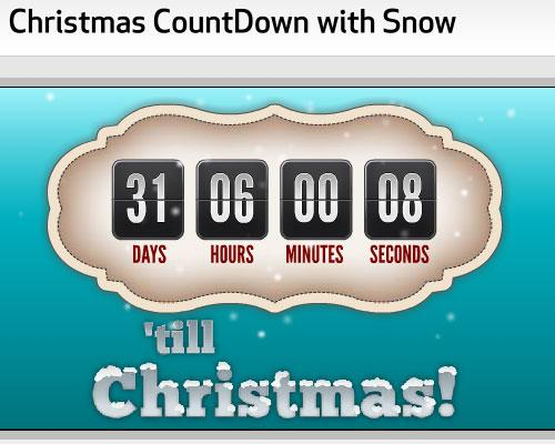 More 10 Awesome Countdown Timers to Christmas 2010 9 Nice Blog