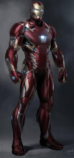 Iron Man Mark XLVI by Phil Saunders Ironman Cmics Iron man