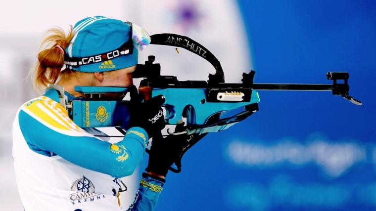 Full HD Wallpaper biathlon khrustaleva elena rifle Desktop