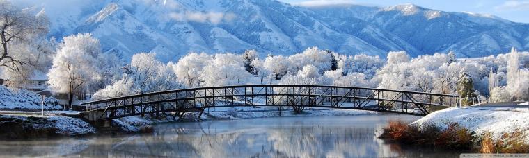Beautiful Winter wallpaper 2560x768 7909