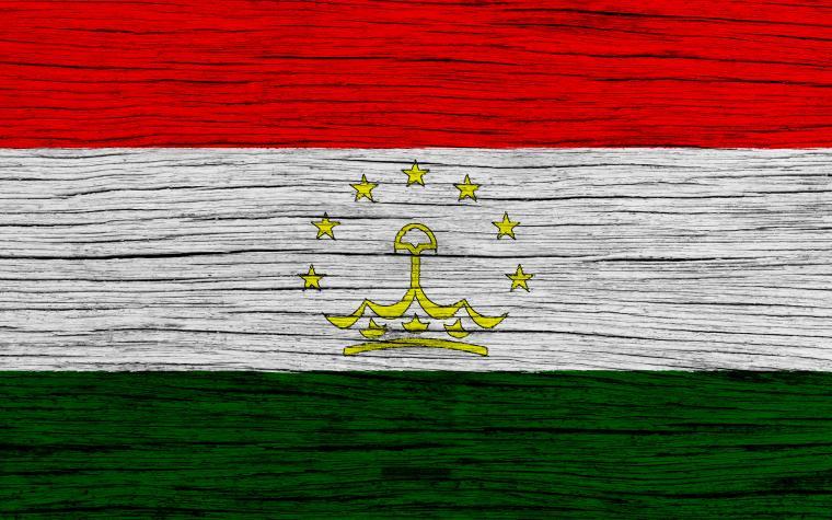 Download wallpapers Flag of Tajikistan 4k Asia wooden texture