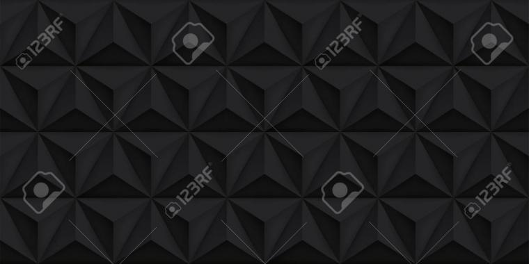 Vector Triangles Retro Black Background Mesh Gradient Geometric