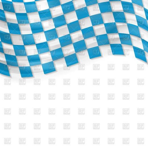 Oktoberfest background with wavy bavarian flag Vector Image of