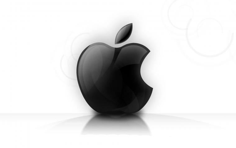 Black white Apple background Wallpaper High Quality