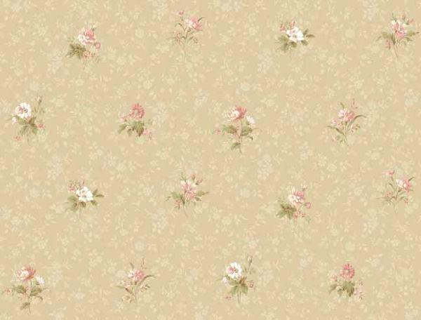 Beige Floral Toss Wallpaper   Wall Sticker Outlet