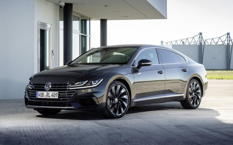 Volkswagen Arteon R Line 2018 4k black sports sedan tuning