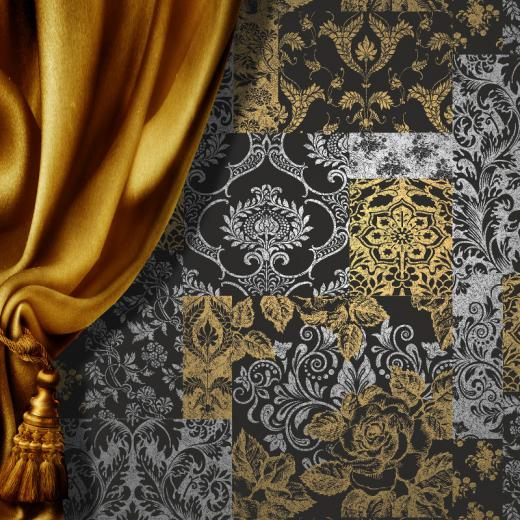Vymura Brocade Suede Effect Wallpaper
