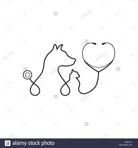 Animal treatment icon on white background Stock Vector Art
