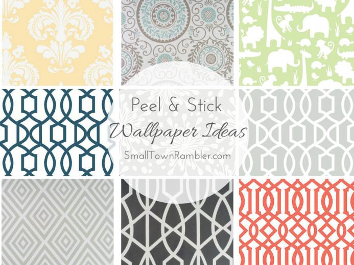 Stuck on You Peel and Stick Wallpaper Ideas