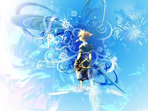 Anime Sky Blue Wallpaper photo largeAnimePaperwallpapers Kingdom Hjpg