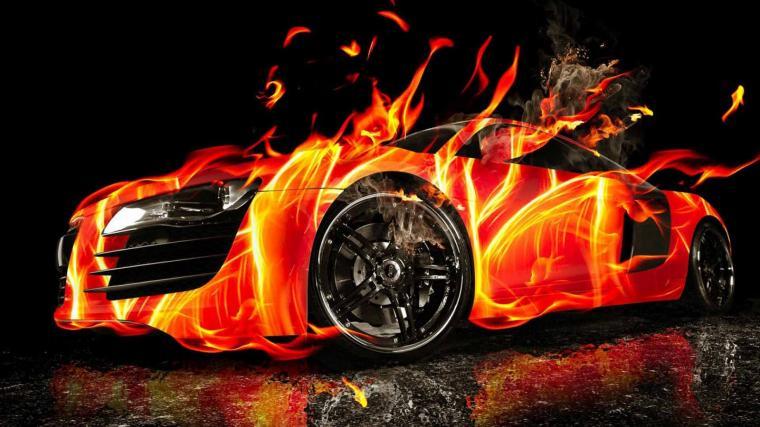 Cool Car Fire Art Wallpaper 5293 Wallpaper Wallpaper Screen