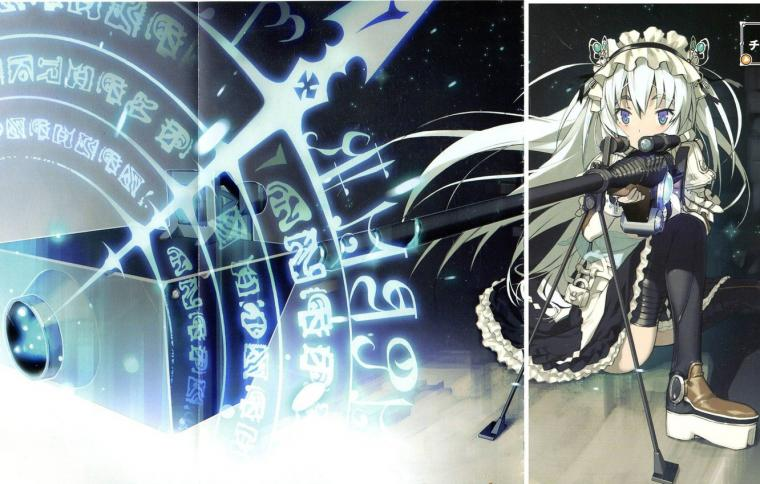 Wallpaper girl weapons magic sniper rifle Chaika the coffin