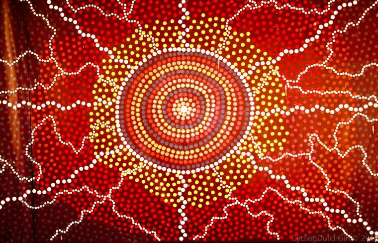 Aboriginal Art Cycling Dutch Girl