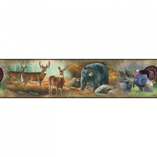 Border Peel Amp Stick Wallpaper Wildlife Hunting Room Decor eBay