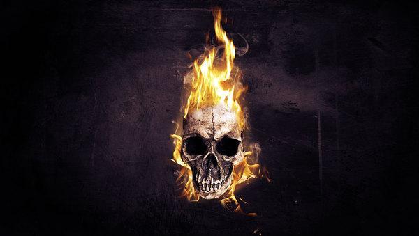Flaming Skull Wallpapers for Halloween on Behance