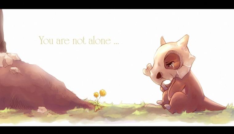 pokemon alone cubone you are not suikuro HD Wallpaper   Anime Manga
