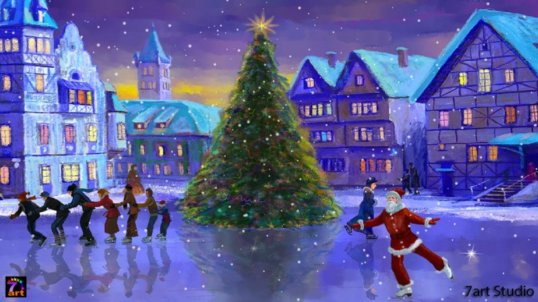 Christmas Rink screensaver and live wallpaper   your brilliant festive