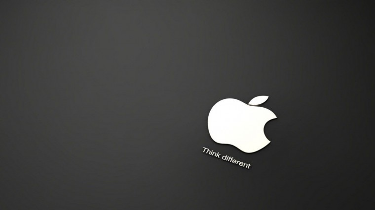 Apple Logo Black and White HD Wallpaper of Black and White