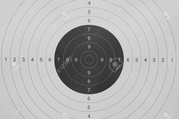 Background Of Gun Shooting Paper Target Stock Photo Picture And