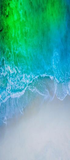 iOS 11 iPhone X Aqua blue Water beach wave ocean apple