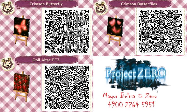 Various FF QR Codes for Animal Crossing New leaf by TeenBulma
