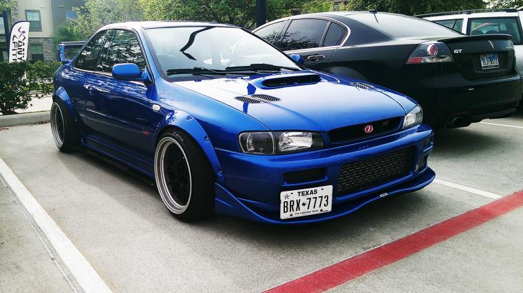 Subaru 25RSTi Swap picture taken at Aprils Houston CC subaru