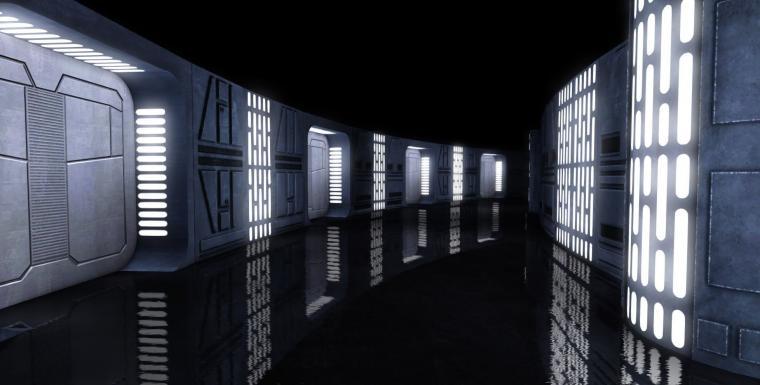 Image result for star wars space station interior