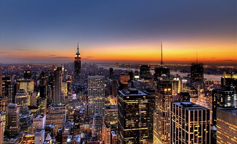 New York City Skyline   Sunset Wallpaper Hd Desktop Wallpaper