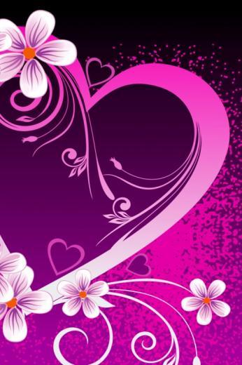 Fancy Pink Heart iPhone HD Wallpaper