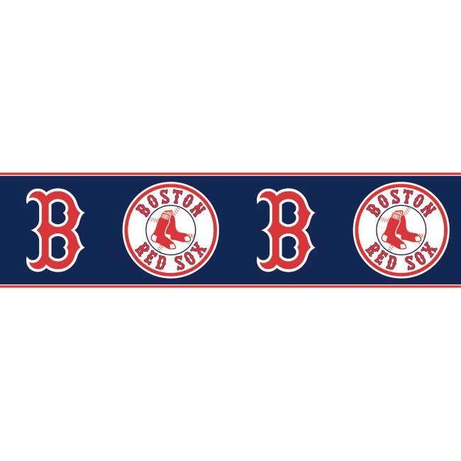 Dark Blue Red ZB3323BD Boston Red Sox Wallpaper Border   Baby