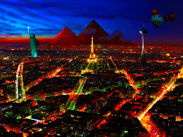 Special City in Night wallpapers Special City in Night stock photos