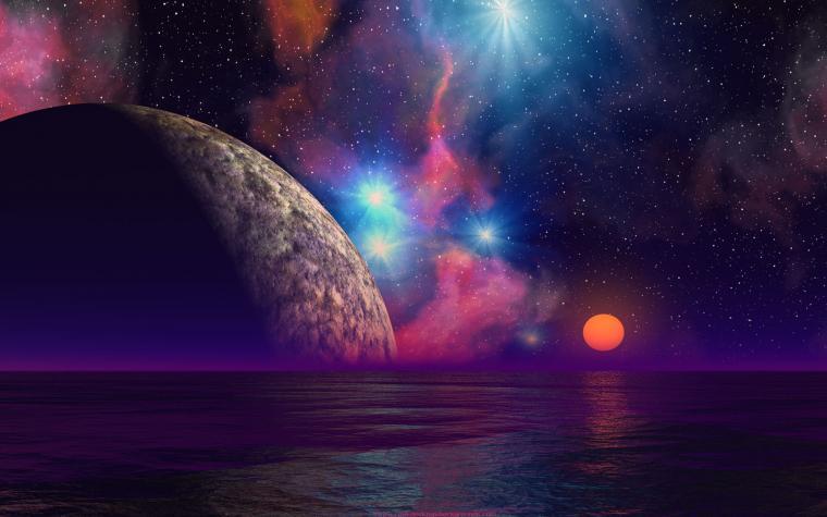 alien sunset backgrounds cool planets scifi desktop wallpaper