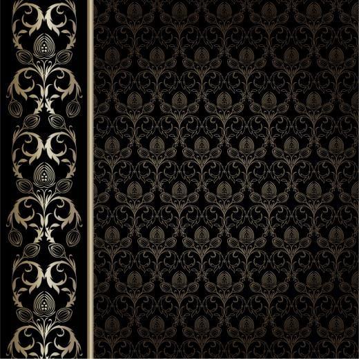 gorgeous wallpaper background pattern vector Vector 4Vector