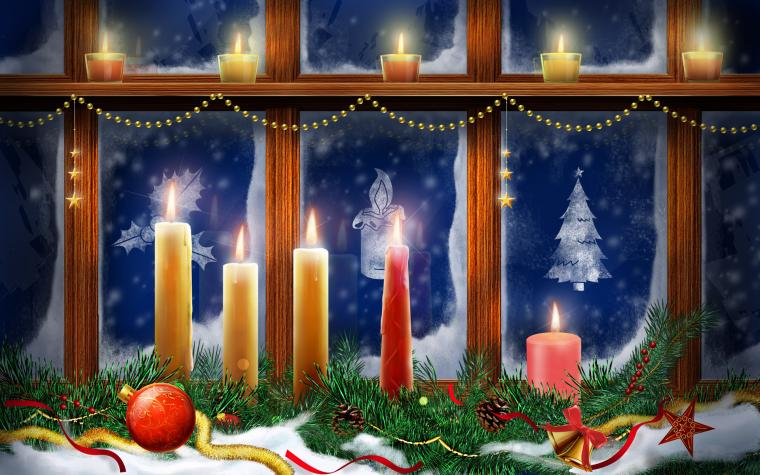 Christmas Lighting Candles Wallpapers HD Wallpapers