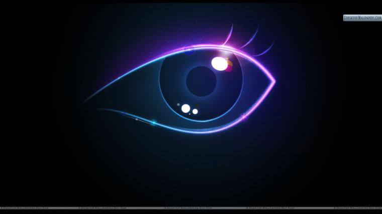 Eye Abstract On Black Background Wallpaper