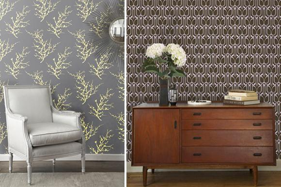 Temporary Wallpaper from Tempaper Designs At Home with Kim Vallee