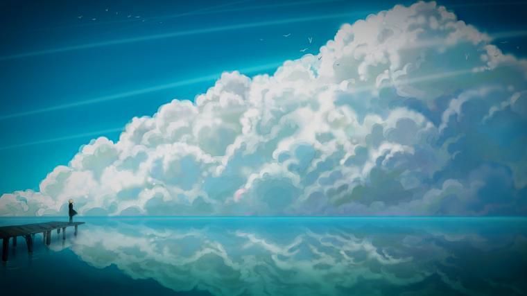 Blue Anime Sky 3840 x 2160