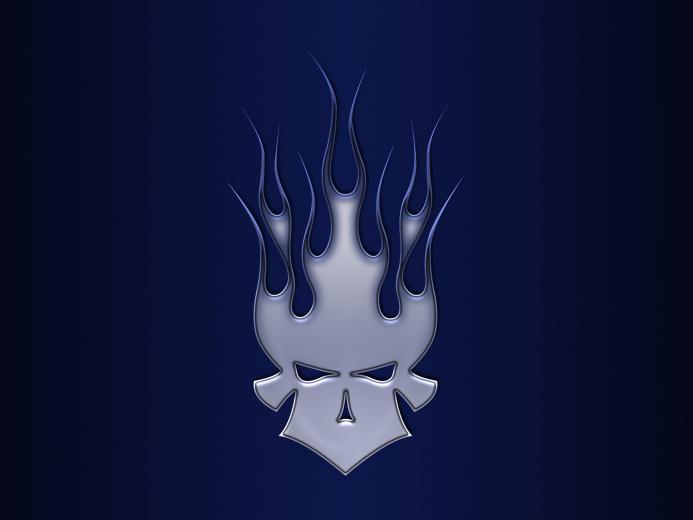 Cool Flaming Skull Wallpapers Flaming skull medal by jbensch