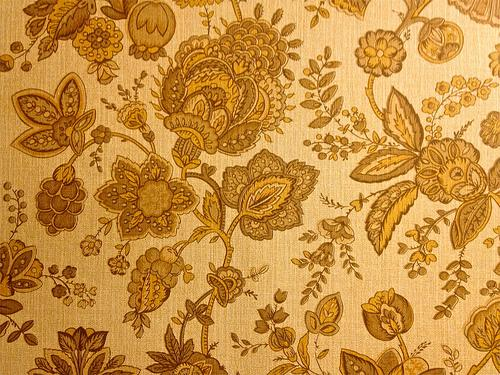 Los Robles Mobile Park Retro Harvest Gold Floral Wallpape Flickr