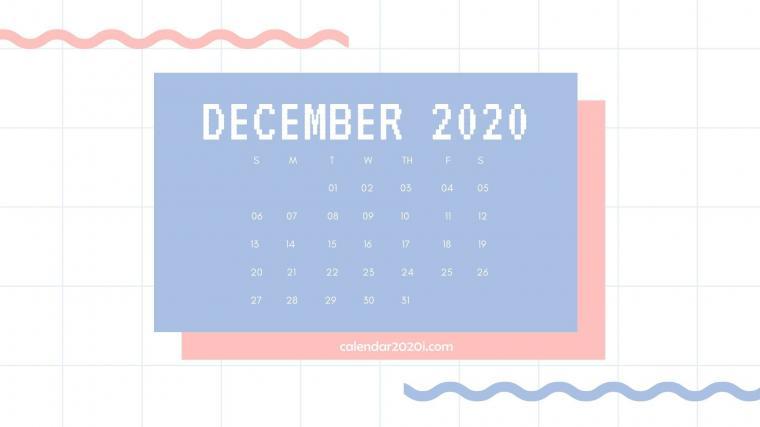 December 2020 Calendar Desktop Wallpaper Calendar 2020