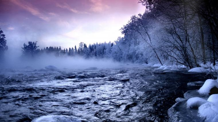 Beautiful Winter Landscape in Nature picture nr