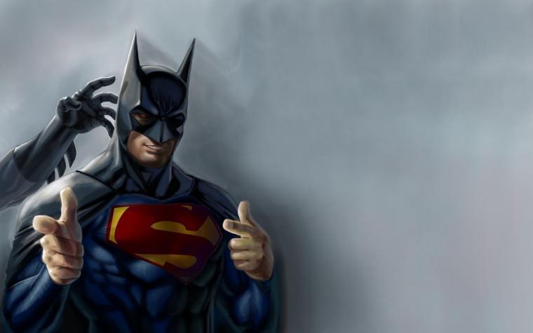 Superman Batman DC Comic Heroes Superhero Funny Parody HD Wallpaper i3