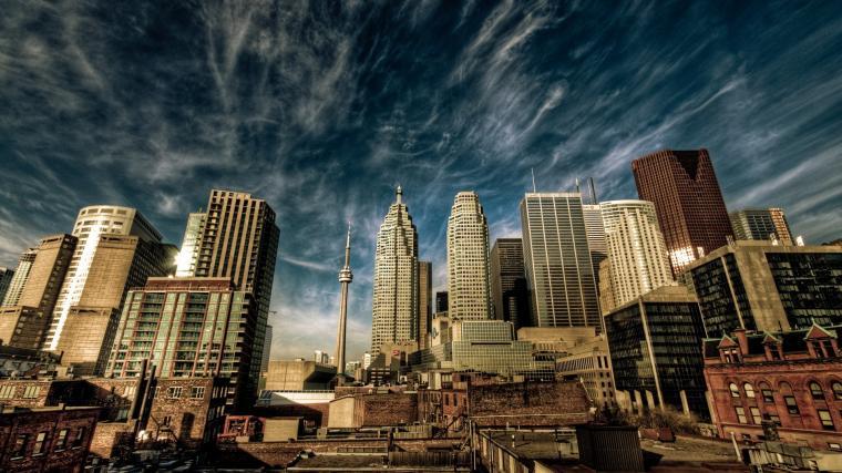 Toronto skyline from Centre Island Computer Wallpapers Desktop