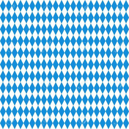 Oktoberfest Checkered Background Blue Diamonds On White Seamless