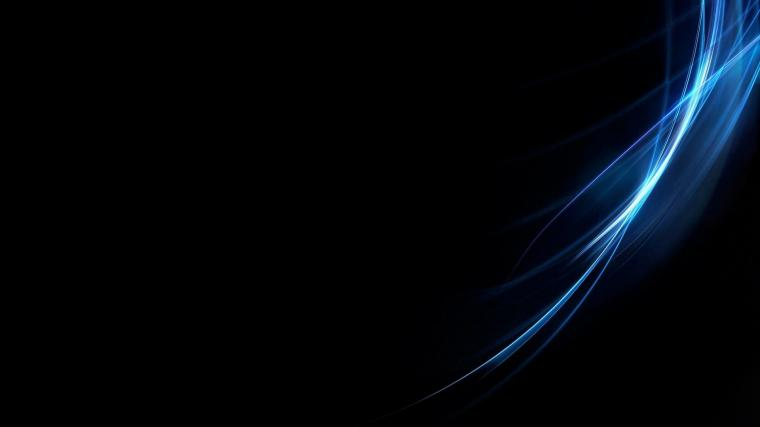 ScreenHeaven Abstract black background blue desktop and